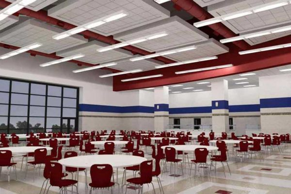 Conceptual rendering of the new cafeteria at Central High School in Helena-West Helena, Arkansas.