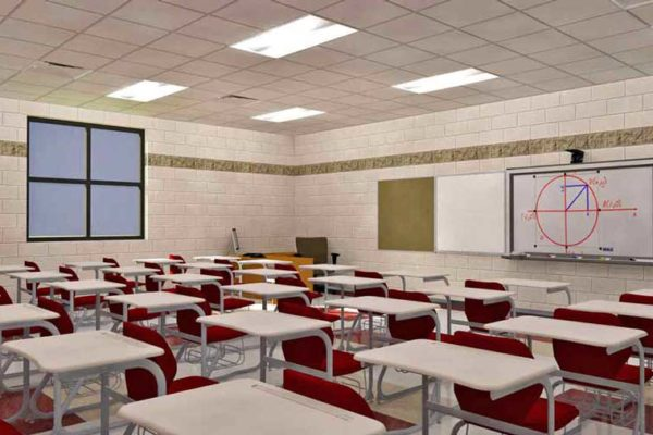 Conceptual rendering of a classroom at the new Central High School in Helena-West Helena, Arkansas