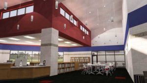 Conceptual rendering of the media center at the new Central High School in Helena-West Helena, Arkansas