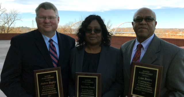 Three Helena-West Helena School Board Members Recognized  for Attaining 'Master Board Member' Status
